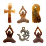 Indiska kulturella symboler för hänge Royaltyfria Foton