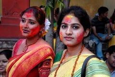 indiska kvinnor Arkivfoto