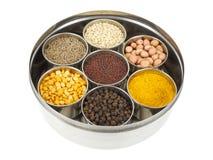 Indiska matlagningingredienser royaltyfria foton