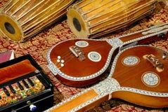 Indiska musikaliska instrument Fotografering för Bildbyråer