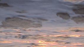 Indiska oceanen GOA på solnedgången lager videofilmer
