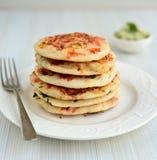 Indiska pannkakor - Uttapam Fotografering för Bildbyråer