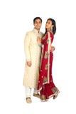 Indiska par i traditionell wear Arkivbild
