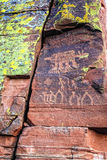indiska petroglyphs Royaltyfria Foton