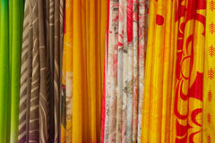 indiska sarees royaltyfri foto