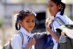 Indiska skolaflickor Royaltyfri Fotografi