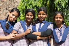 Indiska skolaflickor Royaltyfria Foton