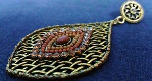 Indiska smyckenörhängen fotografering för bildbyråer