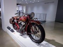 1927 indiska stora högsta motorcykel Arkivfoton