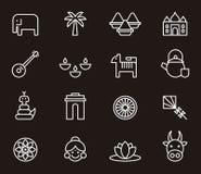 Indiska symboler Arkivbild