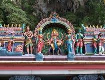 Indiska tempelgudar på Bavegrottan Arkivbild
