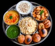 Indiska Thali Royaltyfri Foto