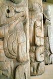 Indiska totem för västkusten, UBC, Vancouver F. KR. Arkivbild