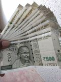 Indiska valutaanmärkningar arkivfoton