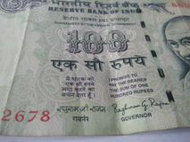 Indiska valutasedlar Royaltyfri Bild
