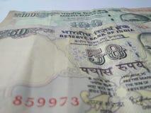 Indiska valutasedlar Arkivfoto