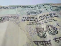 Indiska valutasedlar Arkivbilder