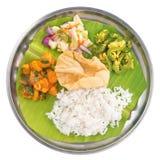 Indiska vegetariska blandade ris Arkivfoton