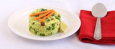 Indiska vegetariska matcitronris Royaltyfria Foton