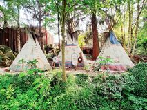 Indiskt campa Fotografering för Bildbyråer