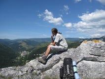 indiskt ensamt fundersamt för klättrare Royaltyfri Foto