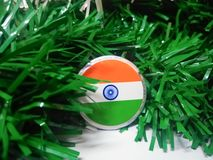 Indiskt flaggaemblem arkivbild