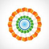 Indiskt flaggaemblem vektor illustrationer