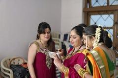 Indiskt hinduiskt bröllop royaltyfri fotografi