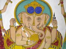 Indiskt konstverk - den hinduiska guden Ganesha - Udaipur Royaltyfri Fotografi