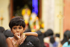 Indiskt kristet barn Royaltyfria Foton