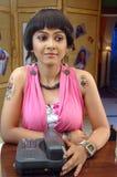 indiskt kvinnabarn Arkivfoton