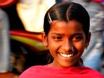 indiskt leende Arkivbild