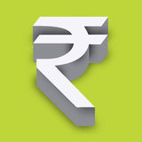 indiskt rupeesymbol Arkivfoto