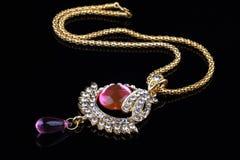 indiskt smyckenhalsband för closeup Royaltyfria Bilder