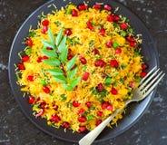 Indiskt vegetariskt glutenfreemellanmål Poha royaltyfria foton