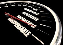 Indispensible Undeniable Praise Compliments Speedometer Stock Photography
