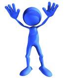Indivíduo azul - batente agora Imagem de Stock