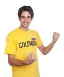 Indivíduo Cheering de Colômbia Imagens de Stock
