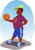 Indivíduo com um basquetebol Imagens de Stock