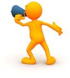 indivíduo 3d: Gritar através de um megafone Imagem de Stock Royalty Free
