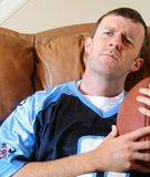 Indivíduo do futebol da fantasia Fotografia de Stock Royalty Free