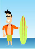 Indivíduo do surfista ilustração do vetor