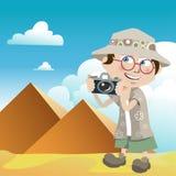 Indivíduo do turista (pirâmides) ilustração do vetor