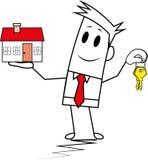 Indivíduo-hipoteca quadrada Imagem de Stock Royalty Free