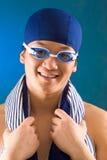 Indivíduo nos óculos de proteção Fotografia de Stock Royalty Free
