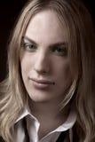 Indivíduo novo com cabelo louro Imagem de Stock Royalty Free
