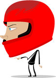 Indivíduo que desgasta um capacete do motor Imagens de Stock Royalty Free