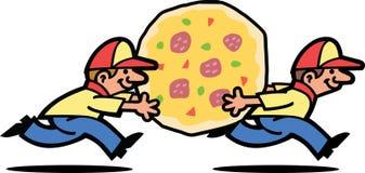 Indivíduos da entrega da pizza Imagens de Stock Royalty Free