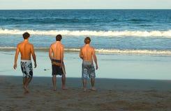Indivíduos da praia Foto de Stock Royalty Free