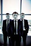 Indivíduos de Fawkes Foto de Stock Royalty Free